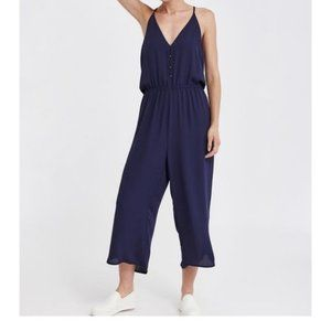 Monk & Lou Blue Jumpsuit with Front Buttons